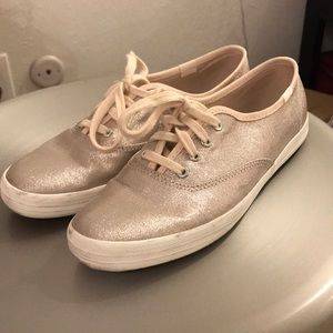 Keds rose gold sparkly shoes